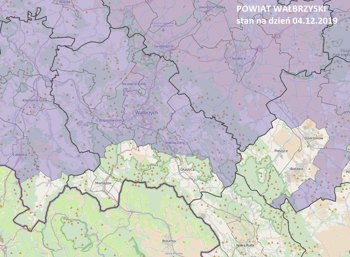 Mapa strefy Wamta naszego powiatu